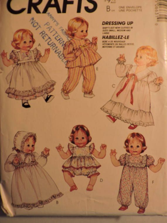 Baby Doll Wardrobe Dress Christening Gown Nightgown Bloomers