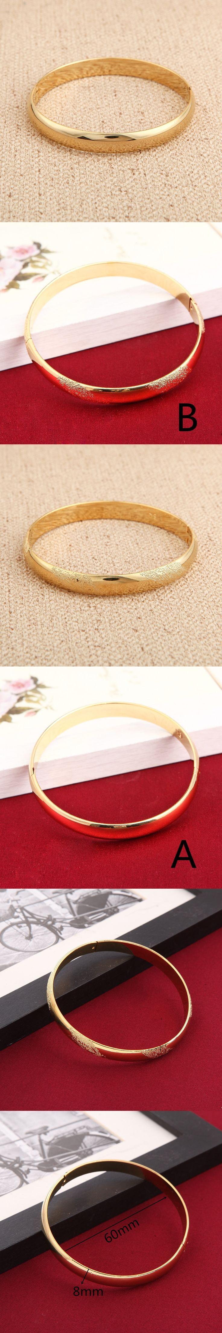 Wholesale Middle East Banglet For Women Gold Color Dubai Bracelet African Arab Ethiopian Bracelet Jewelry