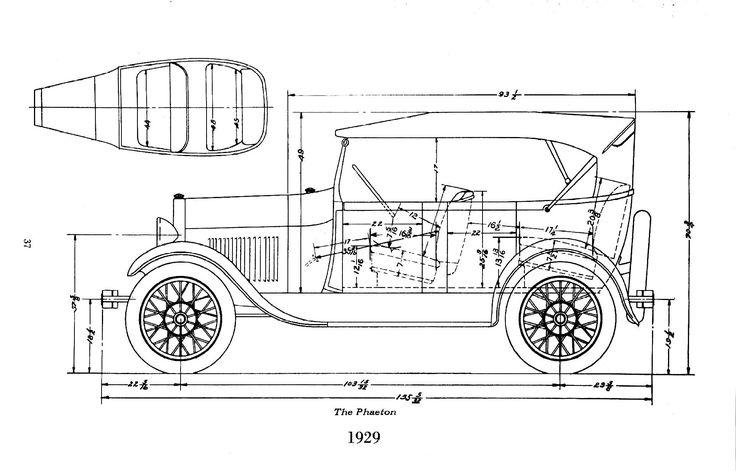 model a ford engine drawings | Ford Model A Body Dimensions » Motor Mayhem