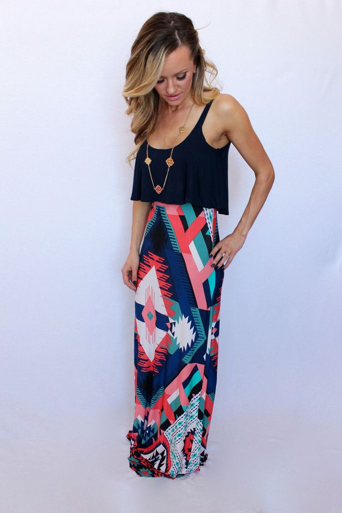 Aztec Maxi Dress – Peace Love and Royalty Boutique