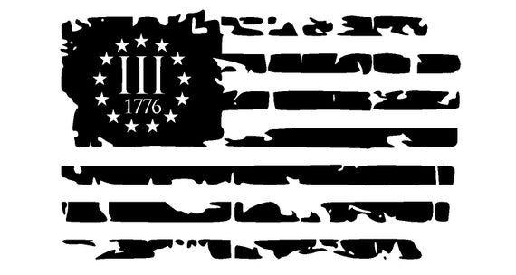 Iii 3 3 Percenter 1776 13 Stars Distressed Flag Vinyl Decal Etsy In 2020 Vinyl Decals Vinyl Decal Stickers Distressed Flag