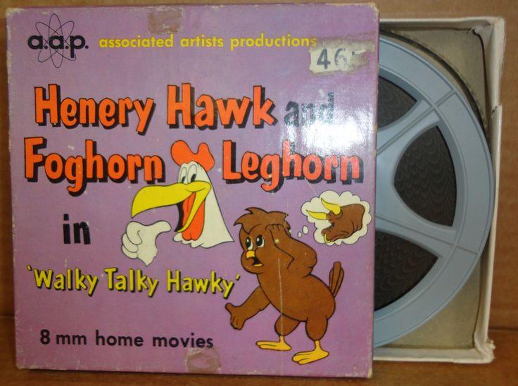 "FOGHORN LEGHORN & Henry Hawk in ""Walky Talky Hawky"" Warner Bros aap CARTOON 8mm Complete Edition Film Movie Castle Films #2465"