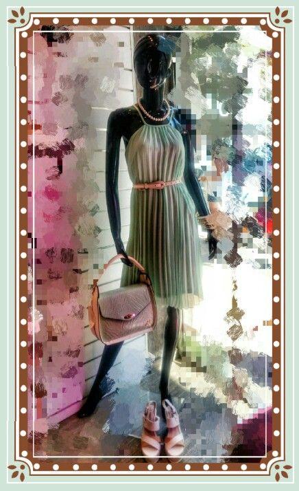 Romantic mint dress