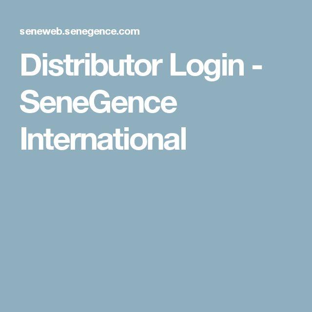 Distributor Login - SeneGence International