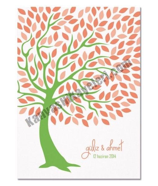 """Düğün İmza Ağacı Klasik düğün misafir defterine bir alternatif mi arıyorsunuz? Misafirleriniz, """"yaprakları"""" kendi isimlerinden veya imzalarından oluşan Düğün Ağacı'nıza bayılacaklar. www.kanvashikayeleri.com #dugunagaci #evlilik #dugun #kanvashikayeleri #canvastablo #kanvastablo #tablo #weddingtree"""