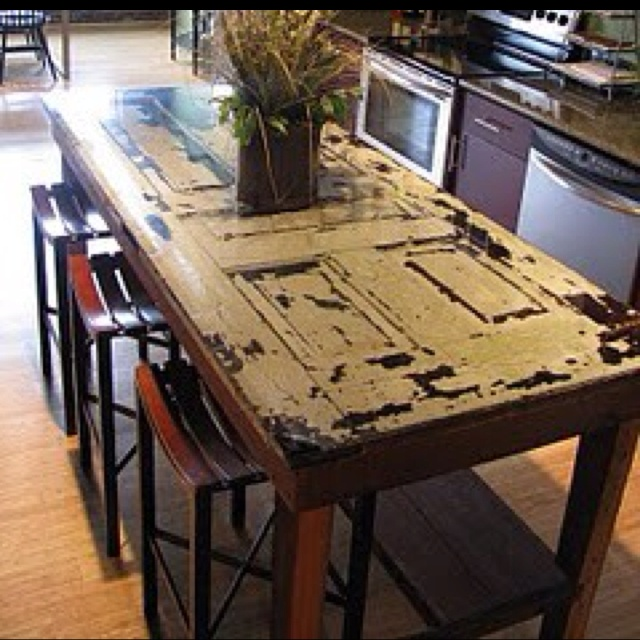 Kitchen Table Door: How To Make A Kitchen Island