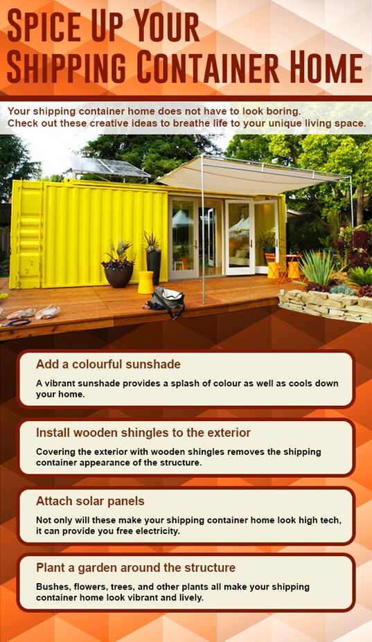 how to spice up a shipping container home