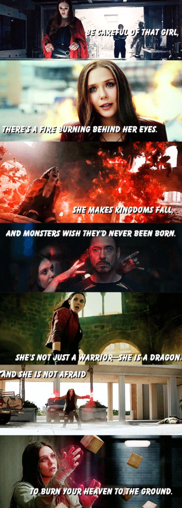 I just got chills from this. Wanda is probably my favorite character in the Mavel universe