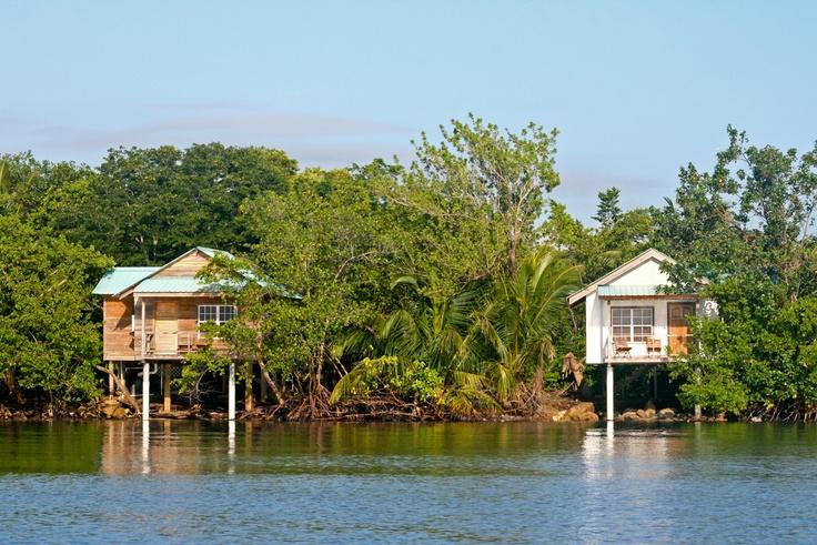 Love houses on stilts. Punta Gorda, Belize