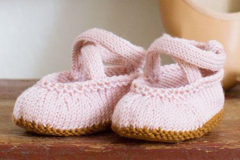 Strickanleitung für süße Baby-Ballerinas!