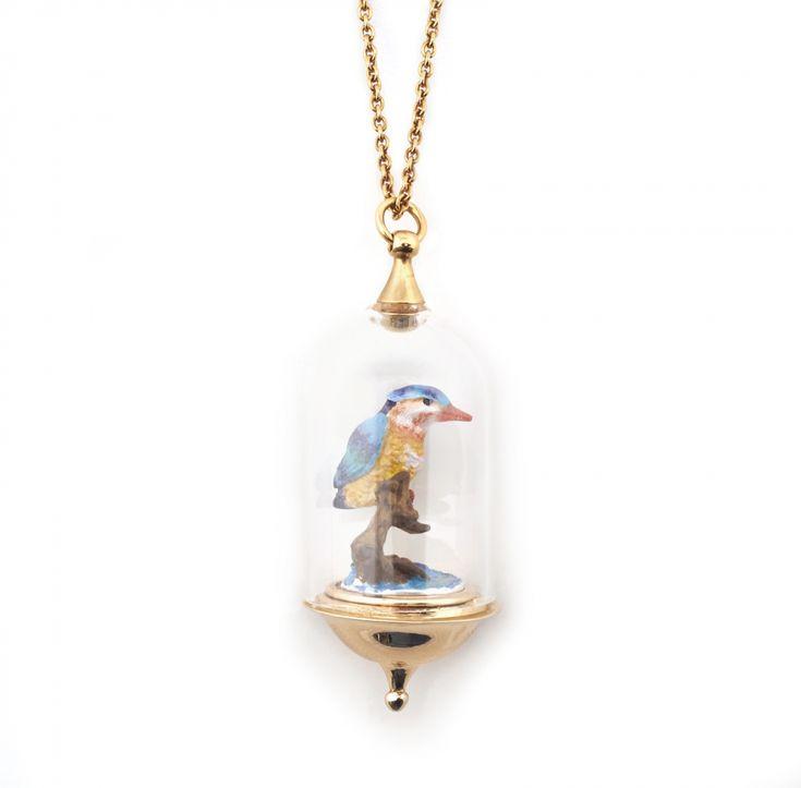 Curios Kingfisher Pendant | Fashion Jewellery - Bill Skinner