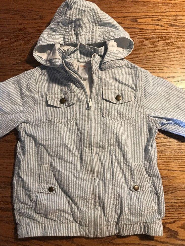 Gymboree Toddler Boys Size 4T-5T Seersucker Jacket Light Blue, White    eBay
