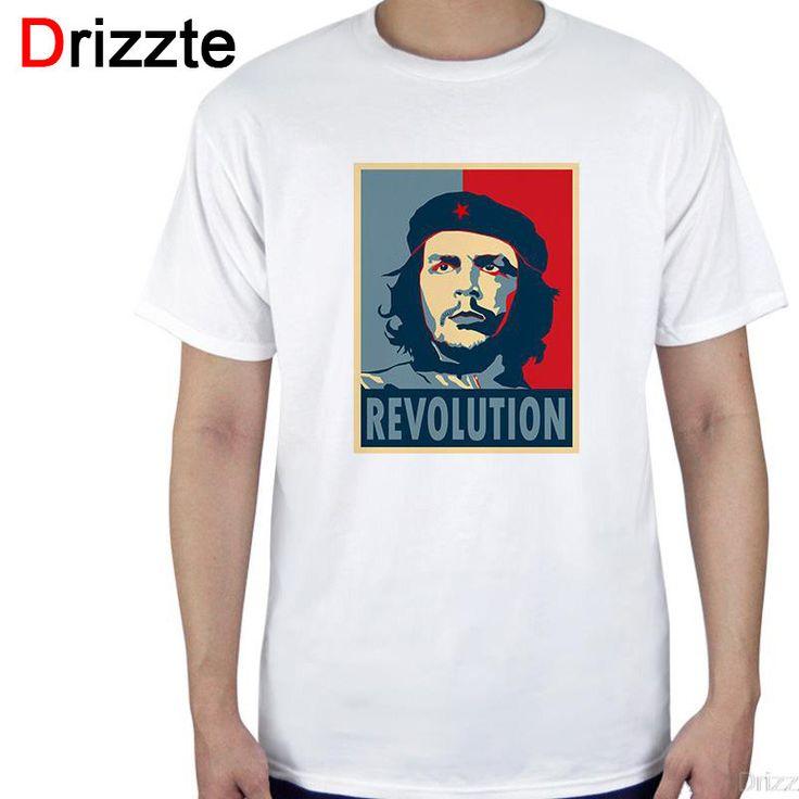 Men Casual White Cotton t Shirts Che Guevara tshirts for Men