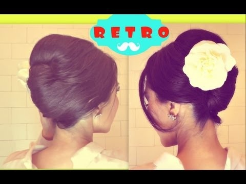 ★RETRO Bouffant  UPDO | PROM WEDDING HAIRSTYLES TUTORIAL |HOW TO FRENCH TWIST …