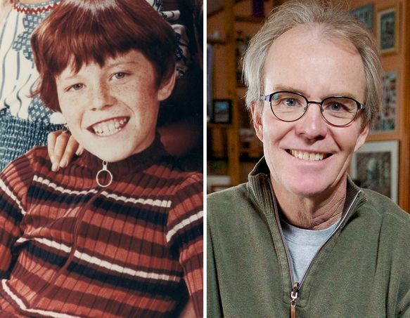 "Mike Lookinland as Bobby Brady in ""The Brady Bunch""... and now."