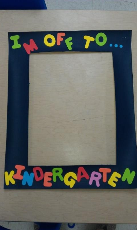 I made this for my Pre-K students to hold up for a picture and I'm going to give them to the parents as an end of the year keepsake! I used a poster board- cut out the frame, painted the frame and used foam letters for the words. cute for any grade level... just change the grade (obviously!)