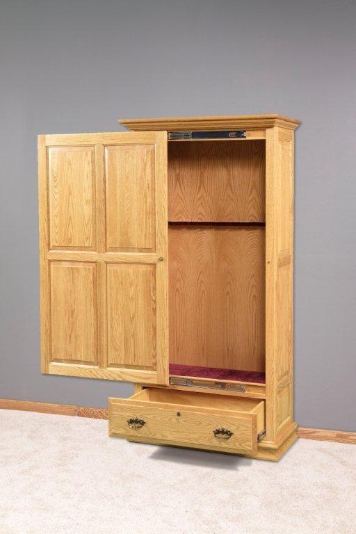 Amish Sliding Door Gun Cabinet Choose From 6 Or 8 Gun Capacity
