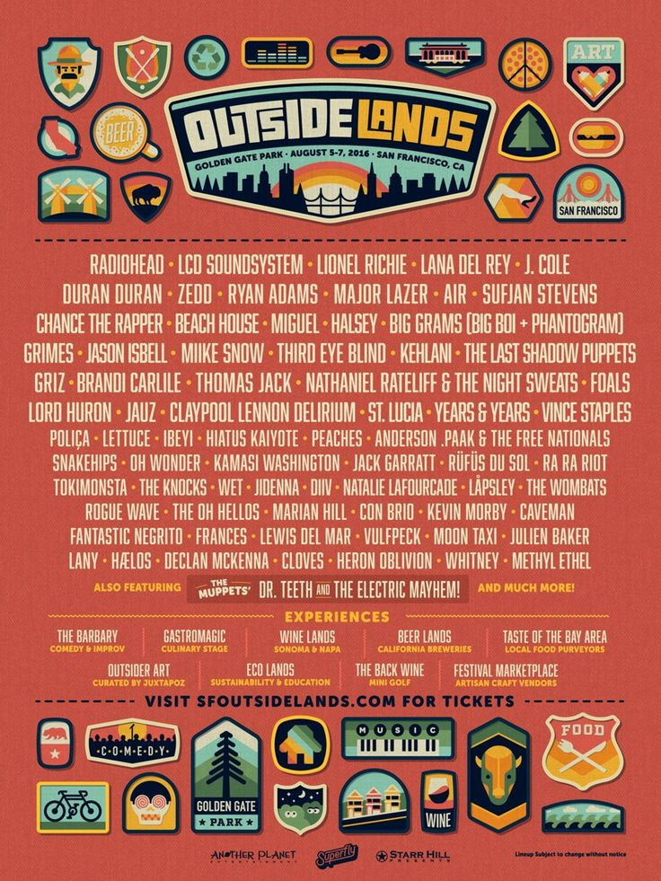 Radioheadwill headline San Francisco's Outside Lands Festival alongside the recently reunited LCD Soundsystemand Lionel Richie.  Sidebar  Outside Lands 201...