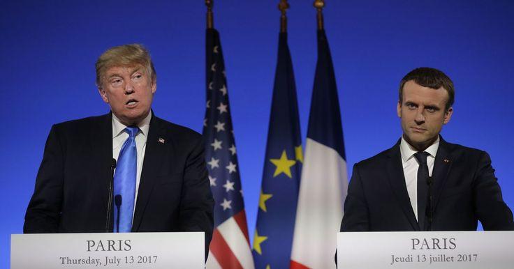 Emmanuel Macron had the perfect facial reactions to Trump explaining basic American history