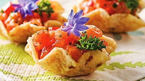 Tartare de saumon en une bouchée