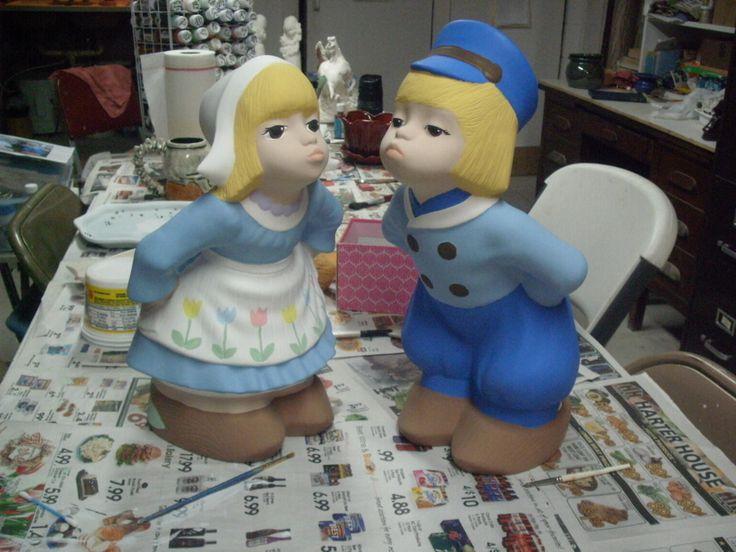 Dutch Boy Girl Garden Statue Ceramic Garden Statues Gifts For Her Holland  Gift Decor Outdoor Dutch