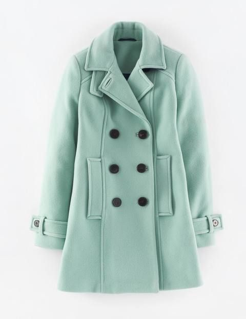 Ooh, looking forward to fall. {Ledbury Pea Coat in Pastel Green}