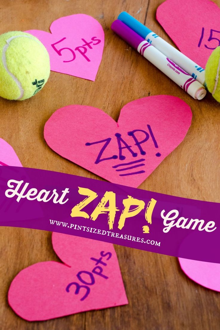 fun heart zap game for Valentine's Day