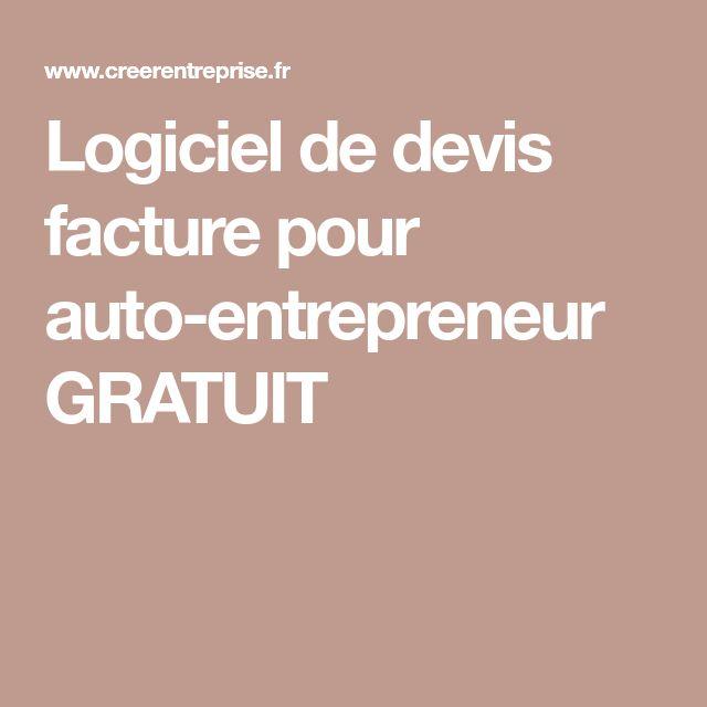 Logiciel de devis facture pour auto-entrepreneur GRATUIT