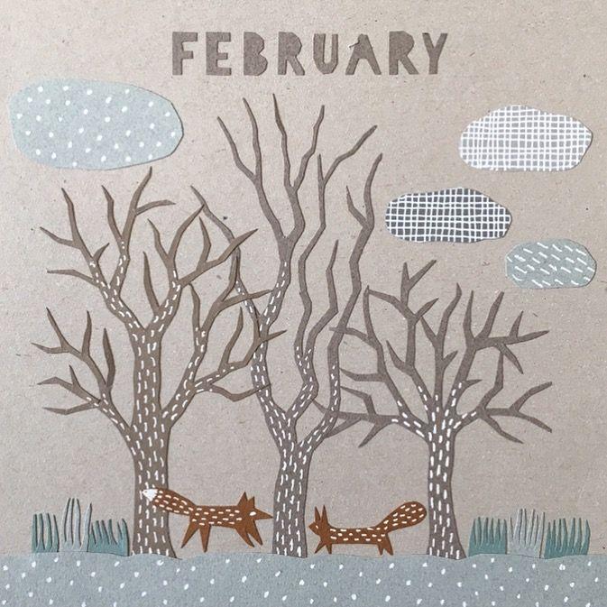 Calendar picture, February