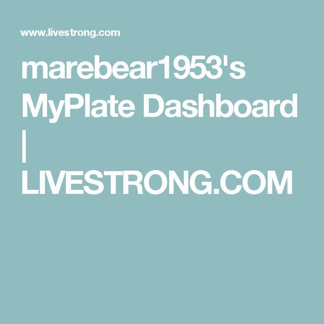 marebear1953's MyPlate Dashboard | LIVESTRONG.COM
