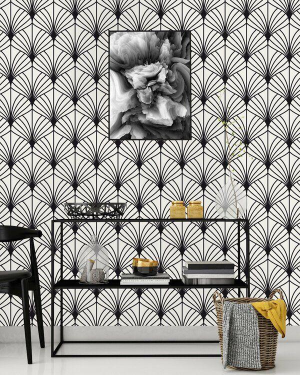 Tameem Seashells Peel And Stick Wallpaper Panel Peel And Stick Wallpaper Wallpaper Panels Black And White Wallpaper