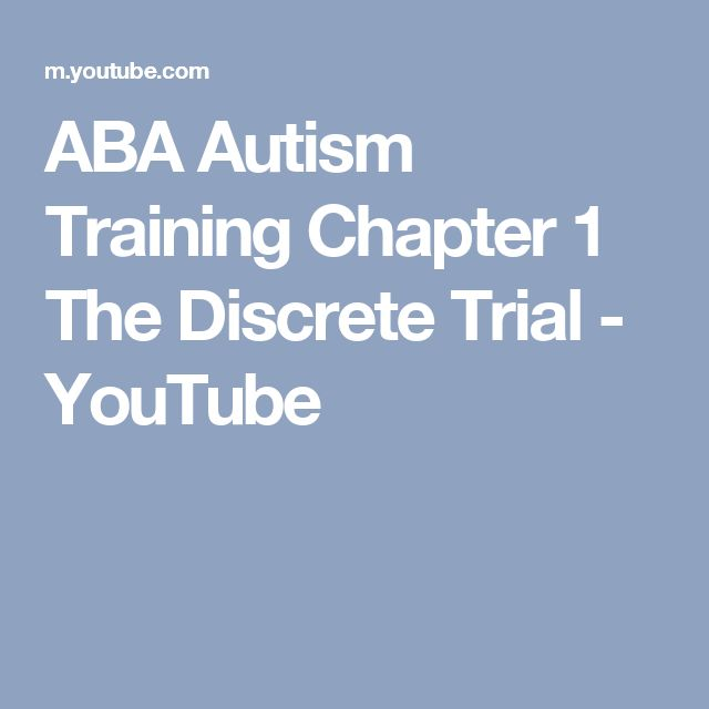 ABA Autism Training Chapter 1 The Discrete Trial - YouTube