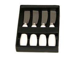 Set de 4 Cuchillos para Untar de Cerámica