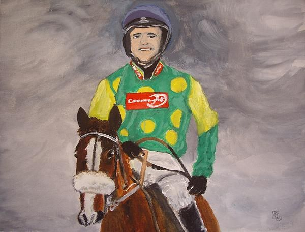 Ruby Walsh & Kauto Star watercolour