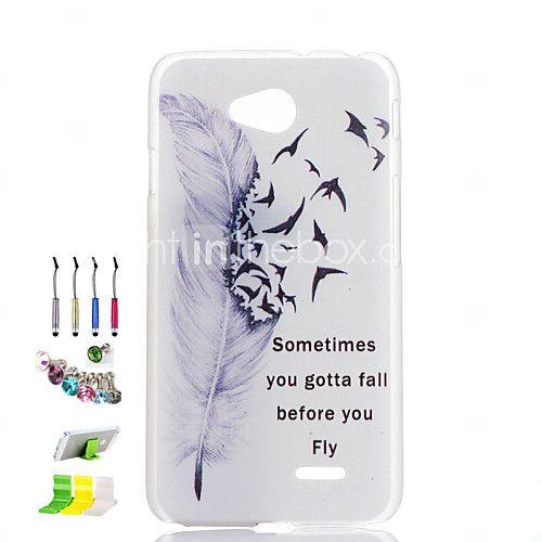 modello piuma trasparente guscio glassato pc phone e della spina della polvere pennino riposare combinazione per lg L90 - EUR €2.93