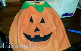 This is my life...: (Easy) DIY Toddler Pumpkin Costume