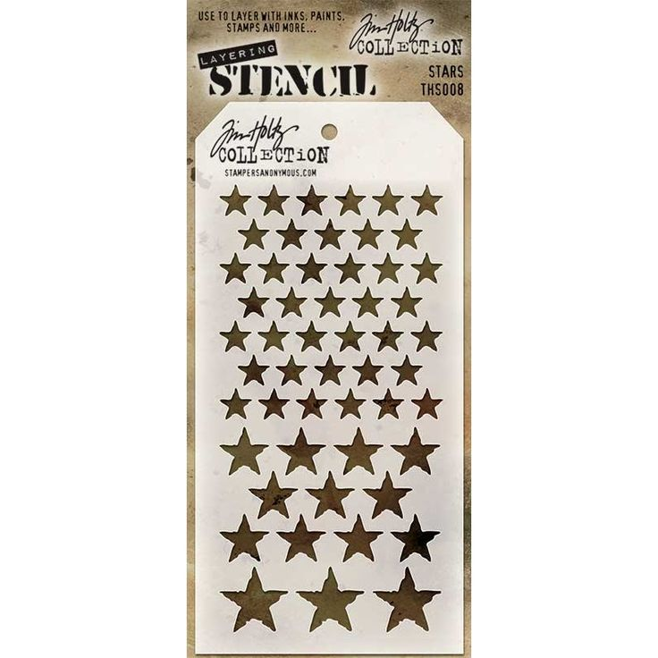 Tim Holtz Layering Stencil - Stars THS008