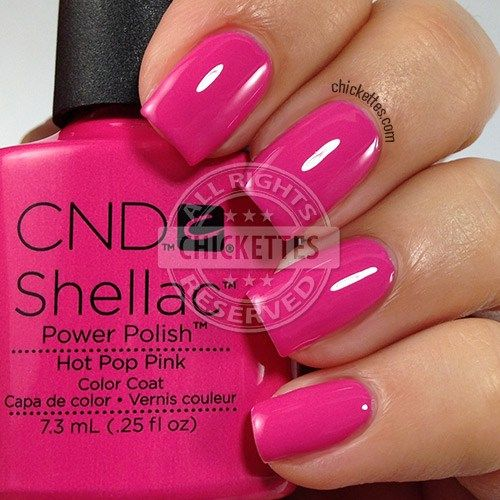 CND Shellac Garden Muse Collection - Hot Pop Pink - swatch by Chickettes.com
