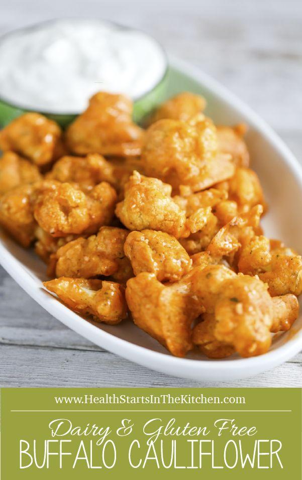 Crispy Baked Buffalo Cauliflower Wings {Vegetarian, Gluten Free, Grain Free, Paleo, Dairy Free, Real Food}