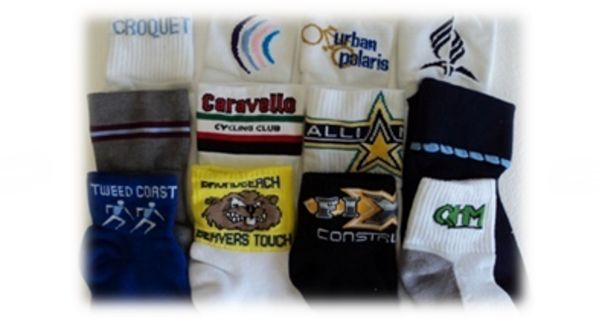 Bike Socks - Queensland Hosiery Mill Bike Socks are available plain or with stripes and/or logo. Full Terry Foot is Standard however Non or Half Terry is available on request. Sports Socks are Cotton and Nylon blend (cotton rich – between 60% & 80%) with percentages depend on how much cushioning and size of the logo which is 100% nylon. These Bike Socks are available with Elasticised 6 cm leg