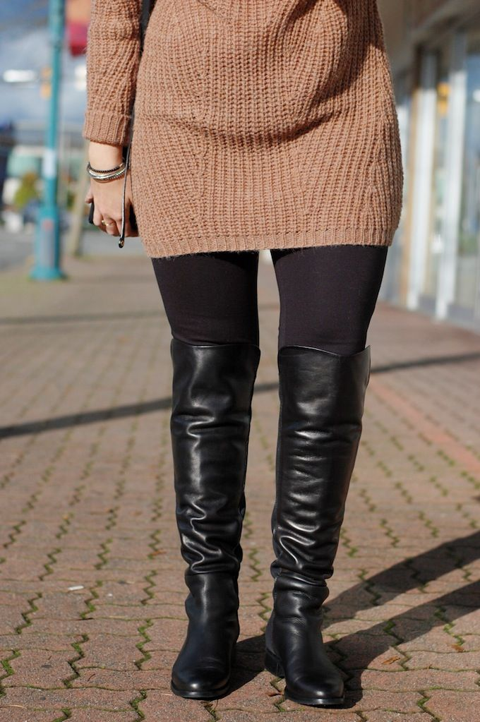 Over-the-knee boots from Le Chateau (See more at www.covetandacquire.blogspot.ca)