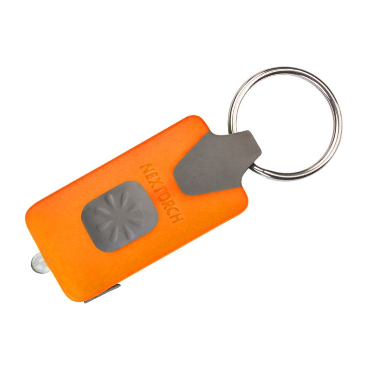 NEXTORCH Keychain Flashlight Orange Color Shock Resistant Rechargeable EDC Led Keychain Camping Torch Flashlight # GL10