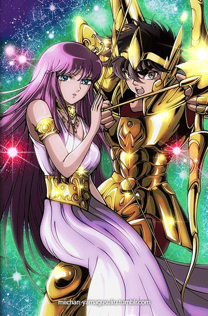 Saint Seiya Galaxy Card saori kido - Seiya y Athena