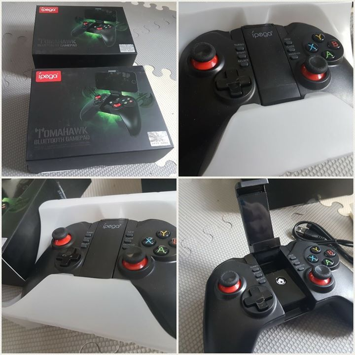 Ipega Tomahawk Controllers!!!  Now Available!!!  Compatible with Android Devices!!! Compatible with IOS Devices!!! Compatible with PC!!!  Perfect for Emulators!!!  NES, SNES, N64, PSP, PS1 and other types of games!!!  Can be connected to the PC.  Easy sync via bluetooth, Chargeable internal battery!  Price: p1,199