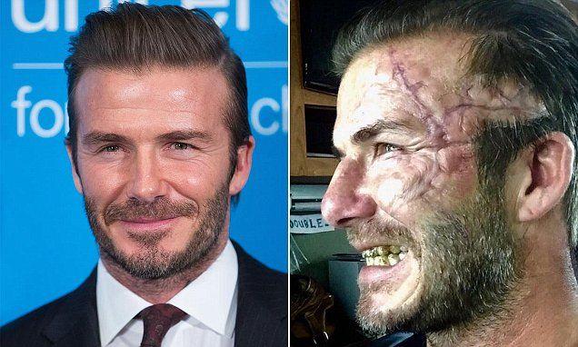 David Beckham gives fans a first look at his King Arthur character