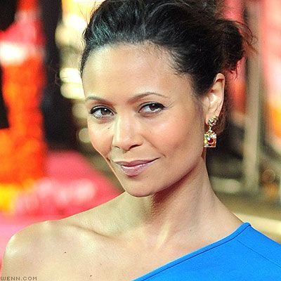 Thandie Newton told Prevention's beauty director her anti-aging secret is Olay Tone Correcting Tinted Moisturizer and a daily fresh-pressed juice she makes with beets, ginger, lemon, and turmeric. Apparently, it's working!