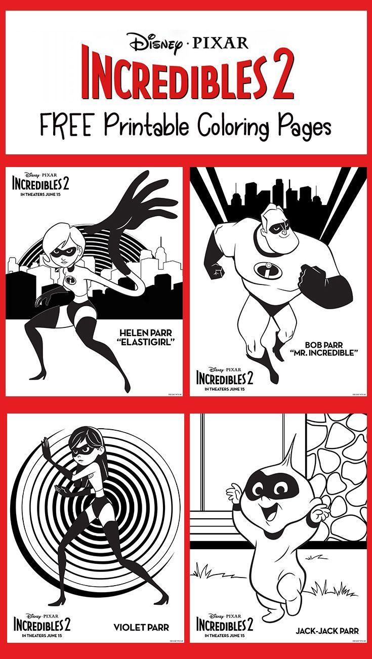Free Incredibles 2 Printable Coloring Pages Incredibles Birthday Party Printable Coloring Pages Coloring Pages