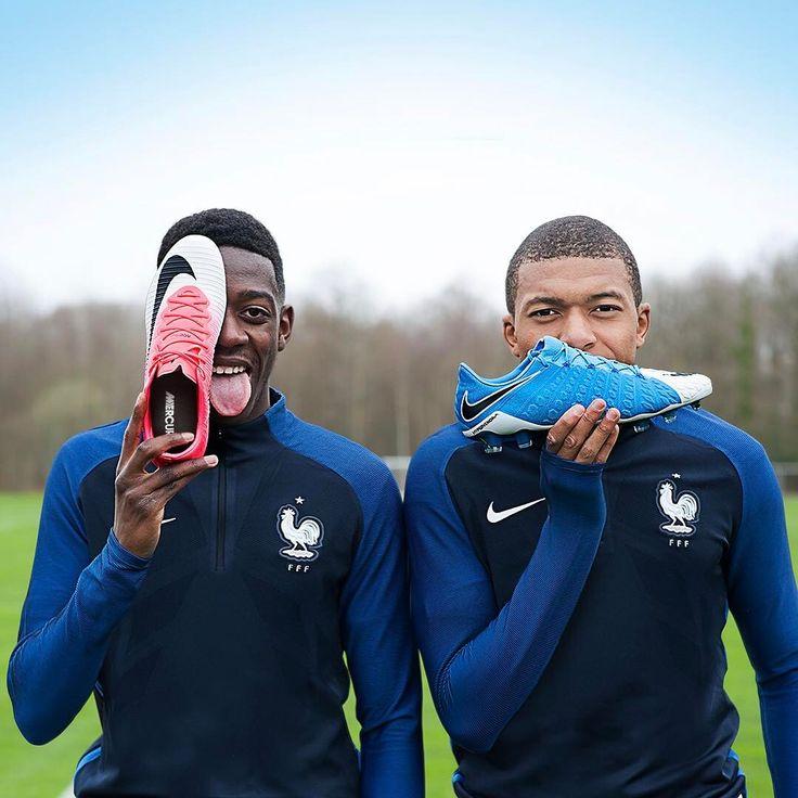 The best teammates make the toughest opponents. @o.dembele7 @k.mbappe29 #Mercurial #Hypervenom -- Les coéquipiers les plus proches sont les adversaires les plus redoutables. --- #Nike #football #soccer #Motionblur #Dortmund #Monaco