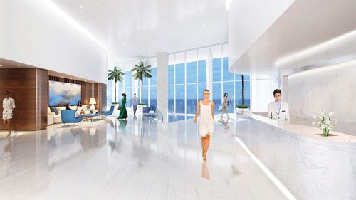 Lobby Renderings Are First Interior Views Of Jade Signature - Starchitecture Watch - Curbed Miami