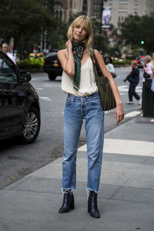 NYFW street style: These are the trends you'll be wearing next: Cropped jeansDespite the 30-degree-plus weather in New York, a specific cut of denim has been making the rounds at fashion week: straight and cut right above the ankle. Bonus points if they're frayed.